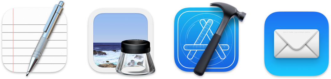 Big Sur's icons retain the fine detail of past versions of macOS, and, in some cases, glyphs extend beyond the bounds of the icon's background.