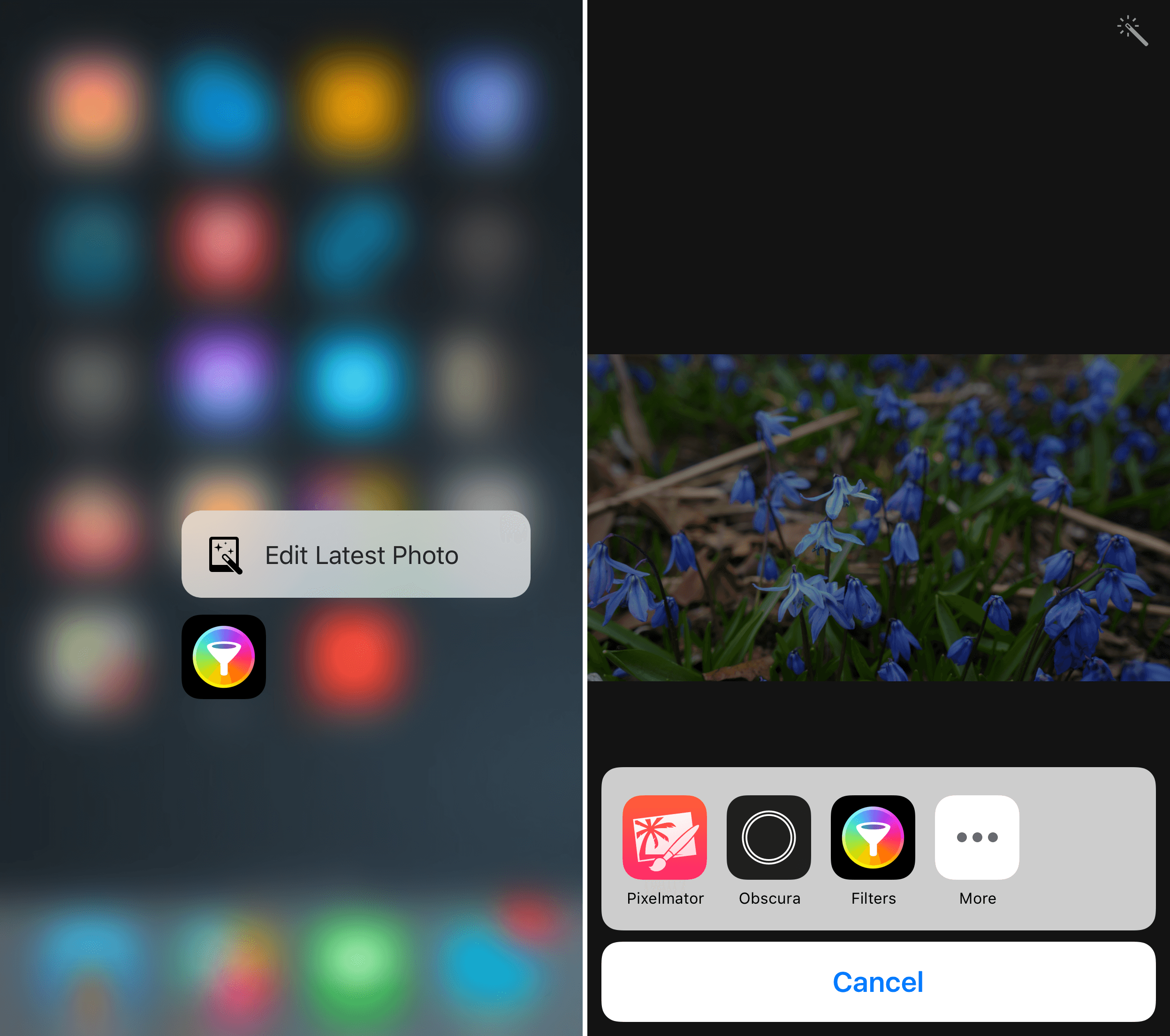 Filters 3 adds 3D Touch support and a photo extension.