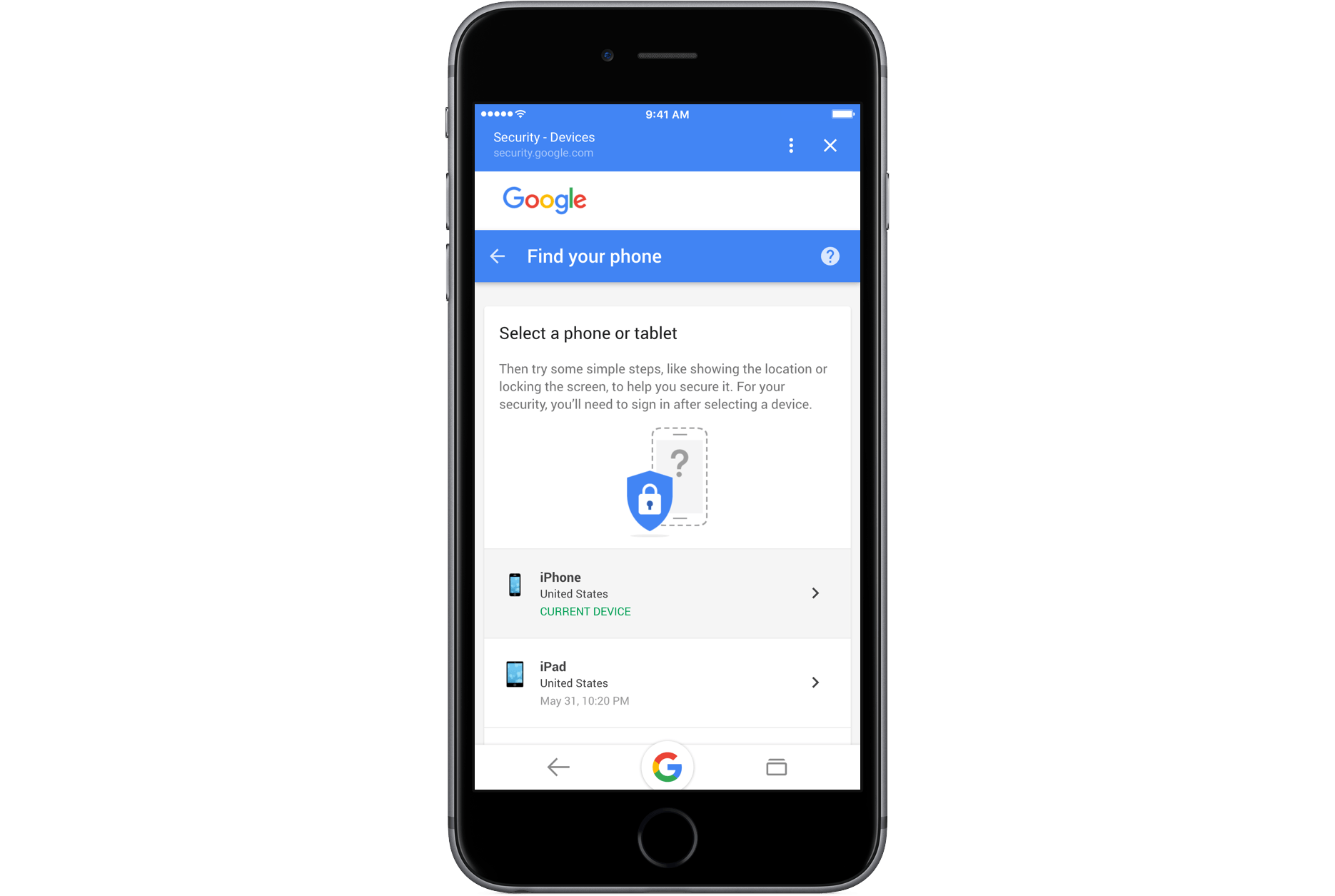 Google Adds Find Your Phone Feature For Ios Devices