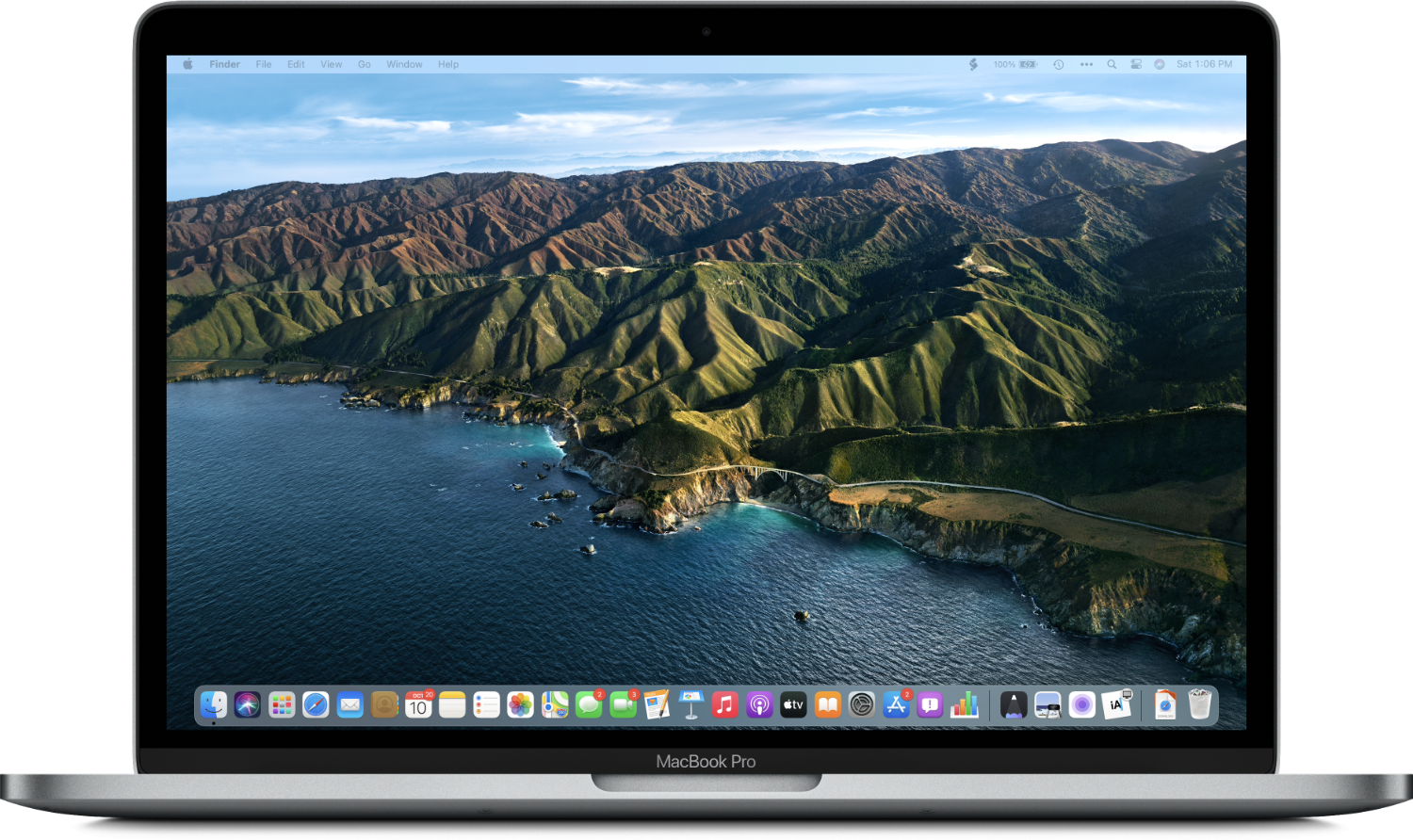 The new desktop features greater translucency and a Dock that floats above the bottom of the screen.
