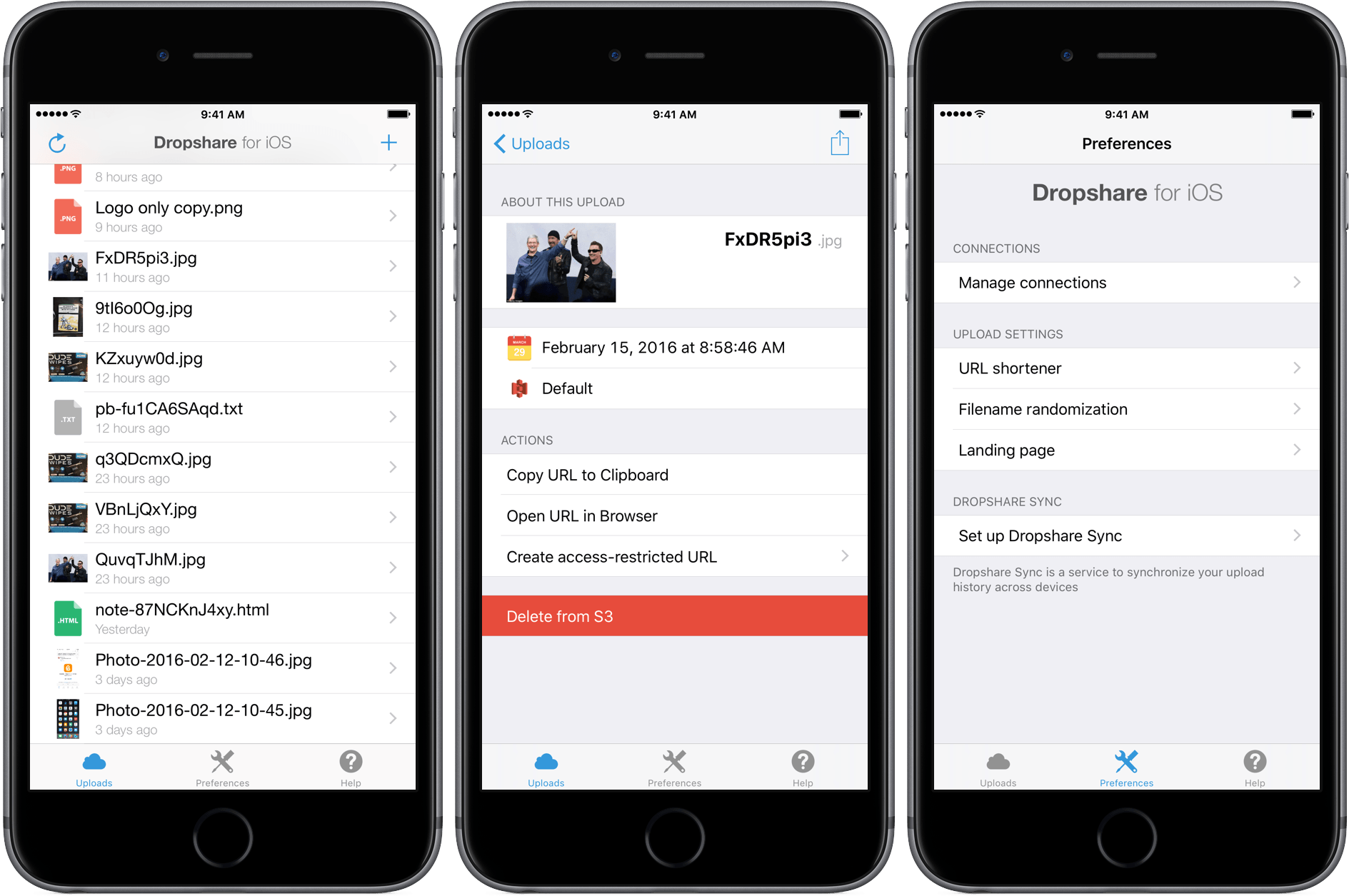Dropshare for iOS.