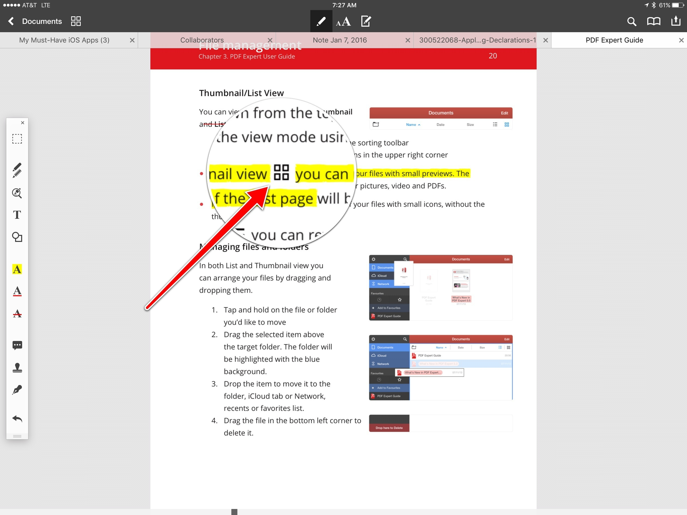 PDF Expert highlighting cannot skip over inline images.
