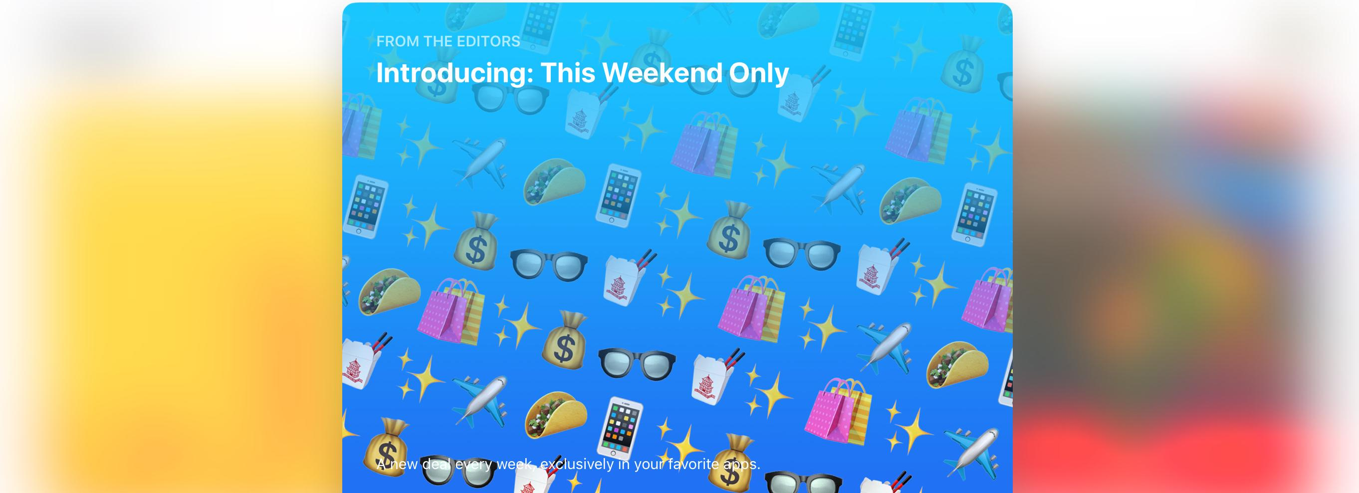 photo image The App Store Adds Weekend Deals Feature
