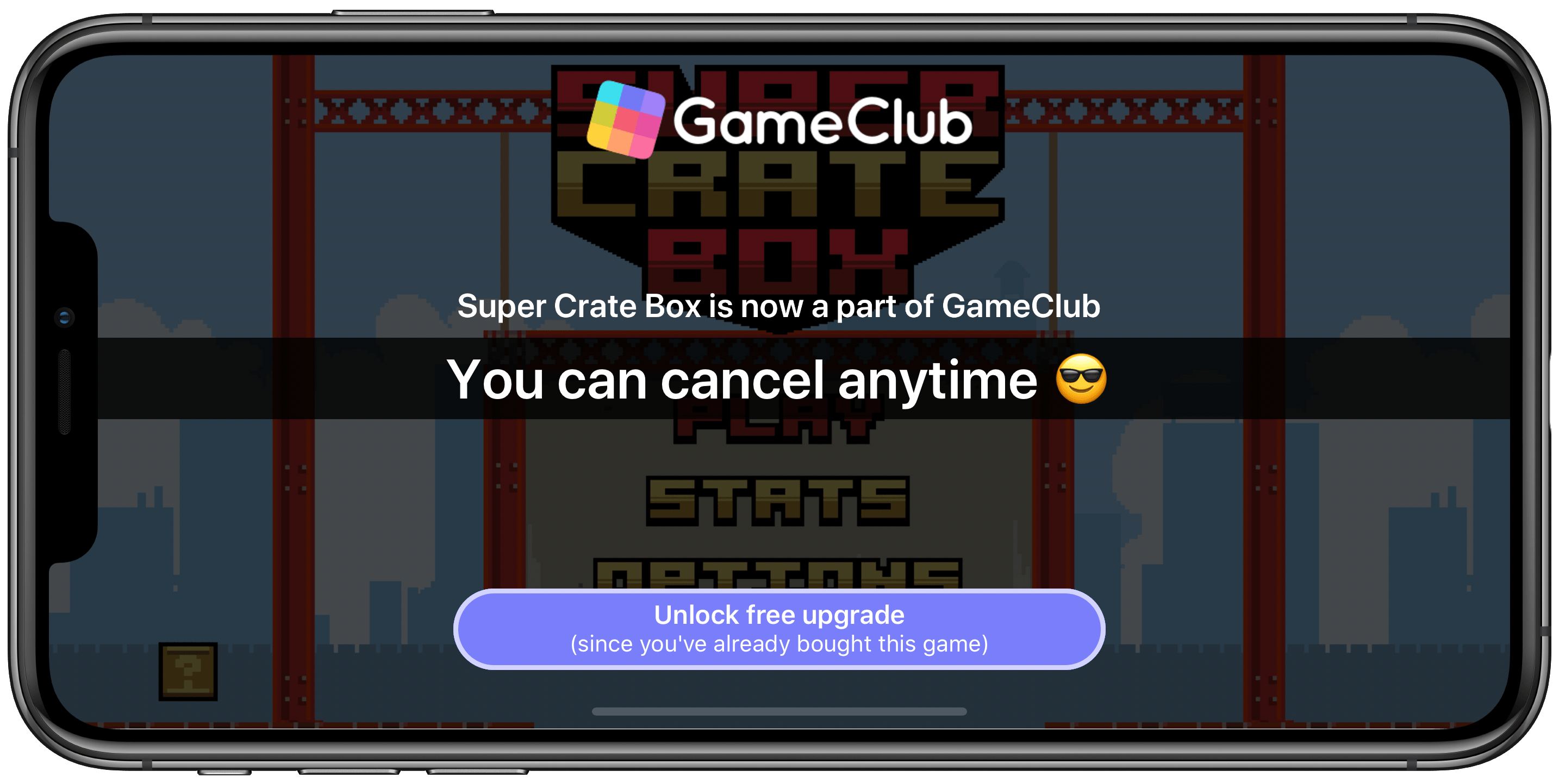When you download a GameClub game but aren't a member, you'll be prompted to join.