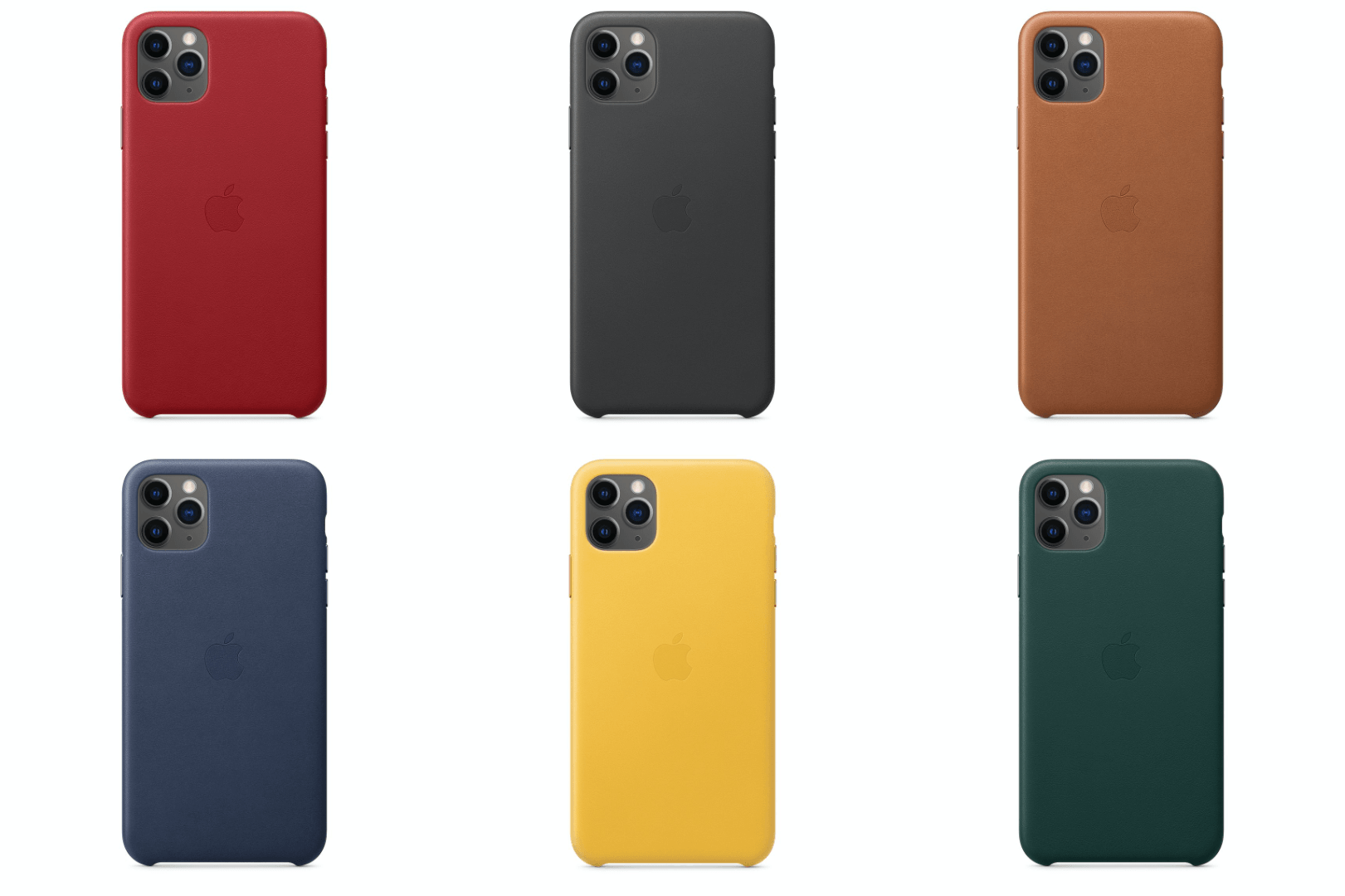 Product Red, Black, Saddle Brown, Midnight Blue, Forest Green, and Meyer Lemon.