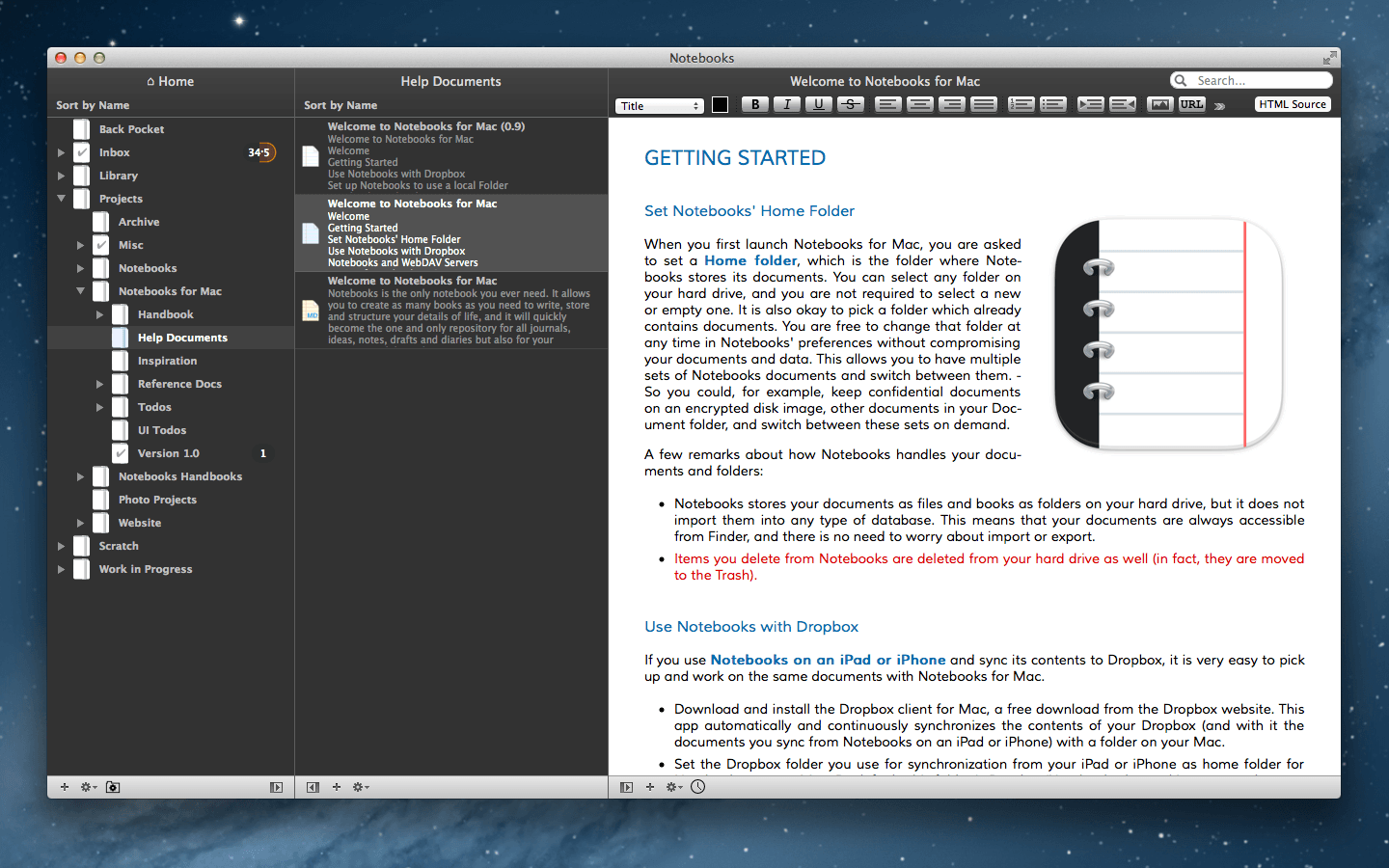 Notebooks for iOS and Mac Organizes Your Research and Reference