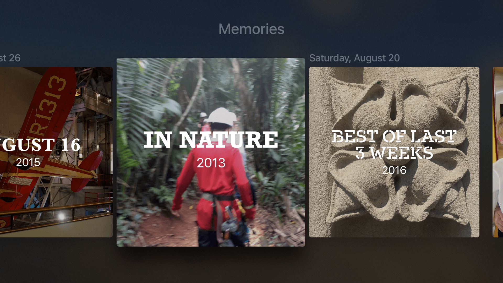 tvOS 10 includes Memories.