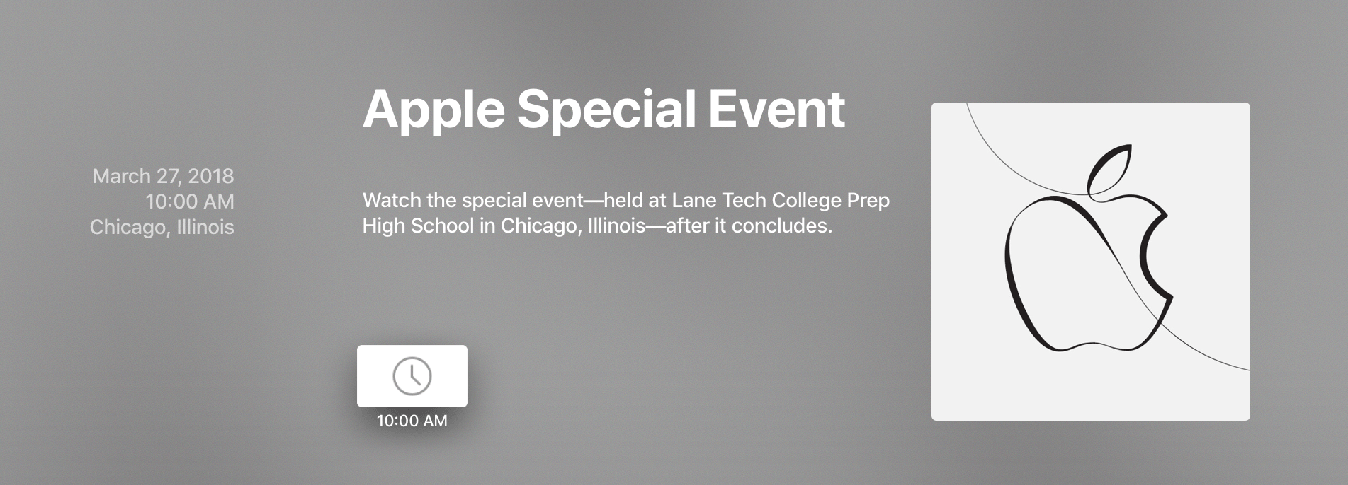 Apple's Chicago Education Event Will Not Be Live-Streamed
