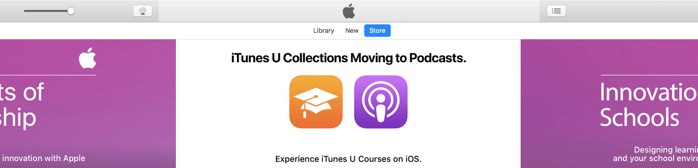 iTunes U Collections Are Moving to Apple Podcasts