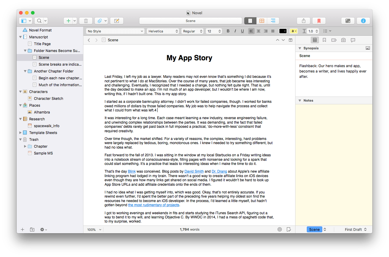 Scrivener 3 for macOS Is More Flexible and Powerful Than Ever for ...