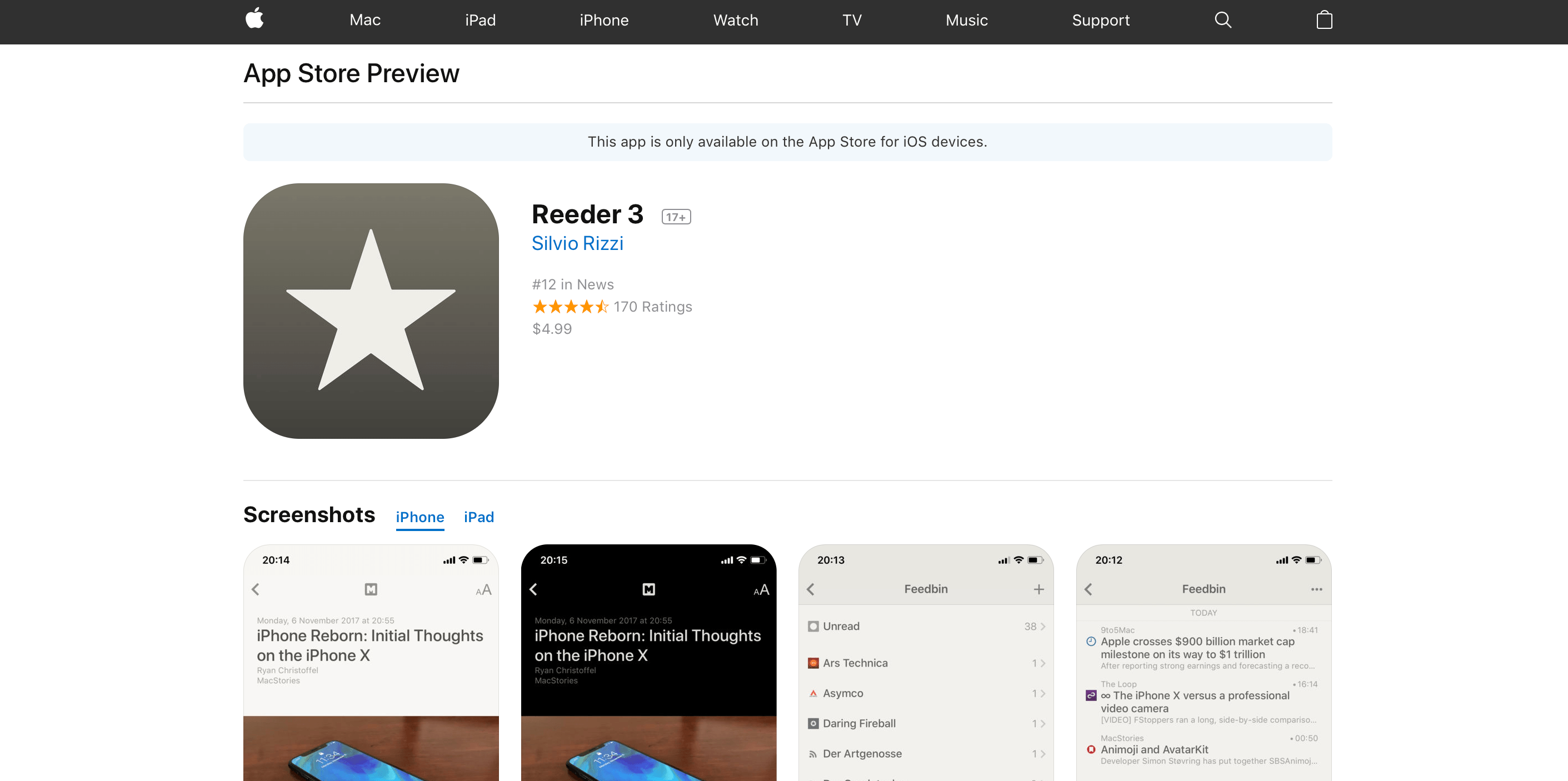Mac And IOS App Store Web Preview Pages Get A Makeover