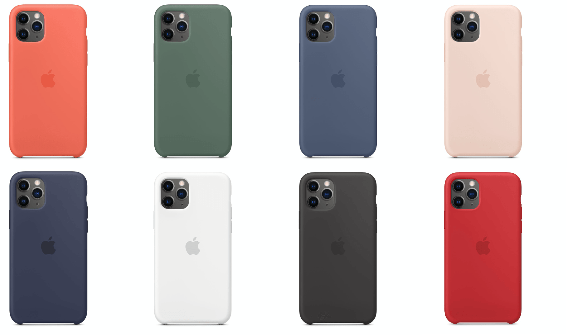 Clementine (Orange), Pine Green, Alaskan Blue, Pink Sand, Midnight Blue, White, Black, Product Red.