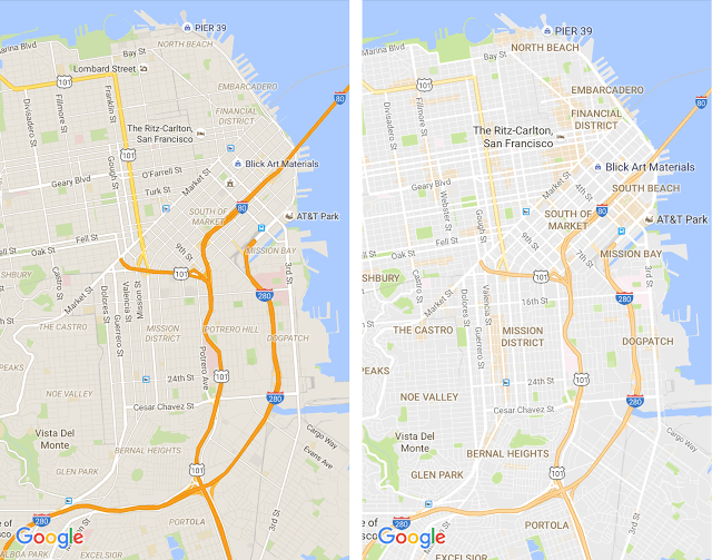 Downtown San Francisco before and after.