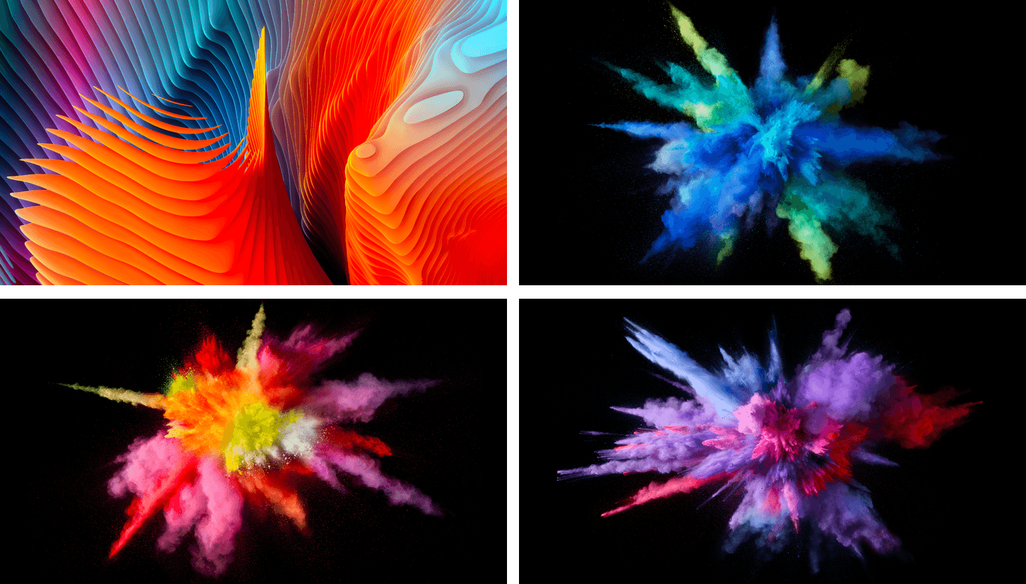 macOS 10.12.2 includes four new colorful wallpapers.