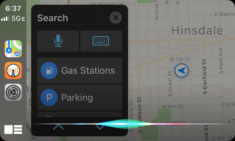 Siri no longer takes over CarPlay's entire interface.